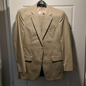 Tan 39L Jos. A Bank Mens Suit 33W Long